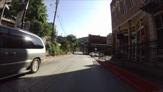 Riding a Goldwing to downtown Eureka Springs Arkansas