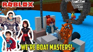 Roblox: MAKING SWEET BOATS! AND SINKING (Build a Boat for Treasure minigame)
