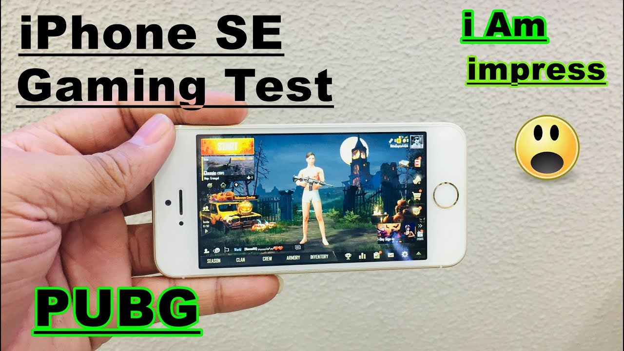 Iphone SE PUBG Game Play
