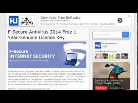 How To Download F-Secure Antivirus Full Version For 1 Year For Free