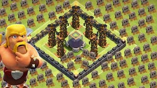 Clash of Clans - TH8 BEST DARK ELIXIR FARMING BASE - MAXIMUM DEFENSE (MUST WATCH)