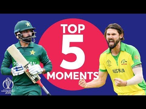 Warner? Richardson?  | Australia Vs Pakistan Top 5 Moments | ICC Cricket World Cup 2019