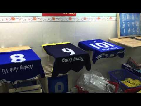 in chuyển nhiệt lên áo bóng đá , áo thun - hãng thể thao Lê Quý - aothidau.com