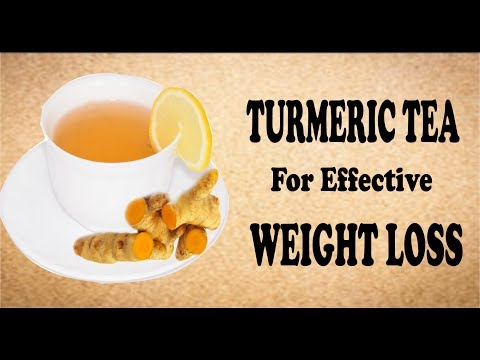 How to get a flat belly in 5 days with turmeric tea, Turmeric curcumin weight loss