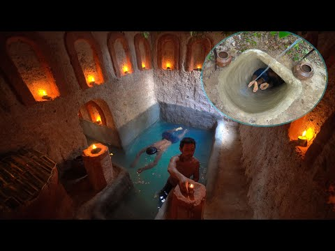 How To Build Secret Underground And WwaterSlide To Underground Tunnel Swimming Pools