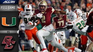 Miami vs. Boston College Full Game | 2018 ACC Football
