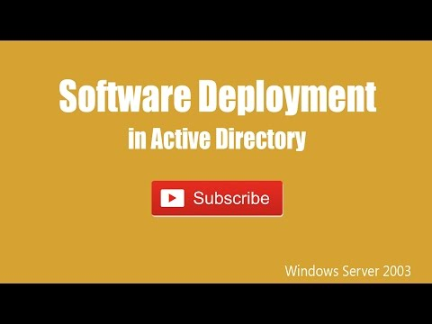 Software Deployment in Active Directory