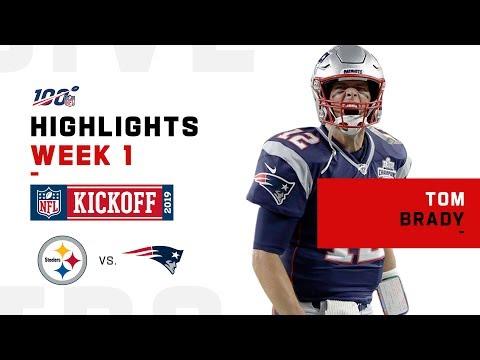 Tom Brady's Big Night w/ 341 Yds & 3 TDs   NFL 2019 Highlights
