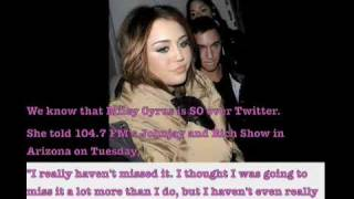 xTeenGossipx - Miley Cyrus Twitter, Swine-Flu, Sex and The City 2, Liam, Update!