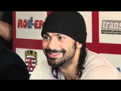 David Haye gives a press conference in Luxembourg