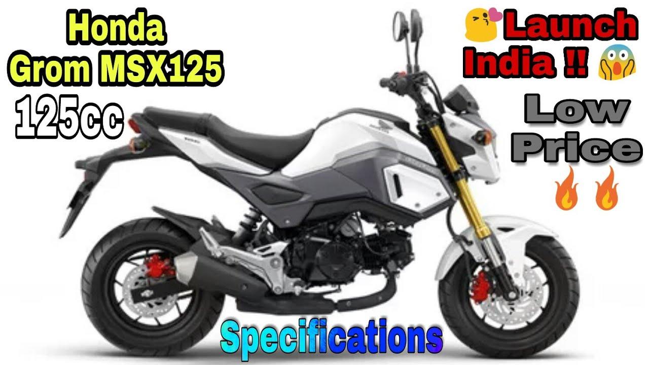 Honda Grom Price >> New Honda Grom Msx125 Launch India Low Price Full