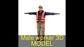 3D Model of Male worker Review