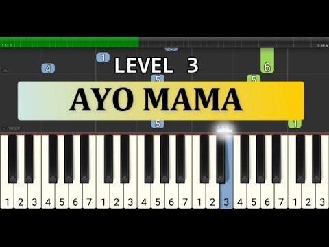 not piano ayo mama tutorial piano level 3 - lagu piano lagu daerah - not ayo mama