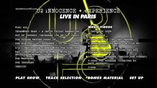U2 - Innocence: Experience Live In Paris: navegación y contenidos del Blu-ray