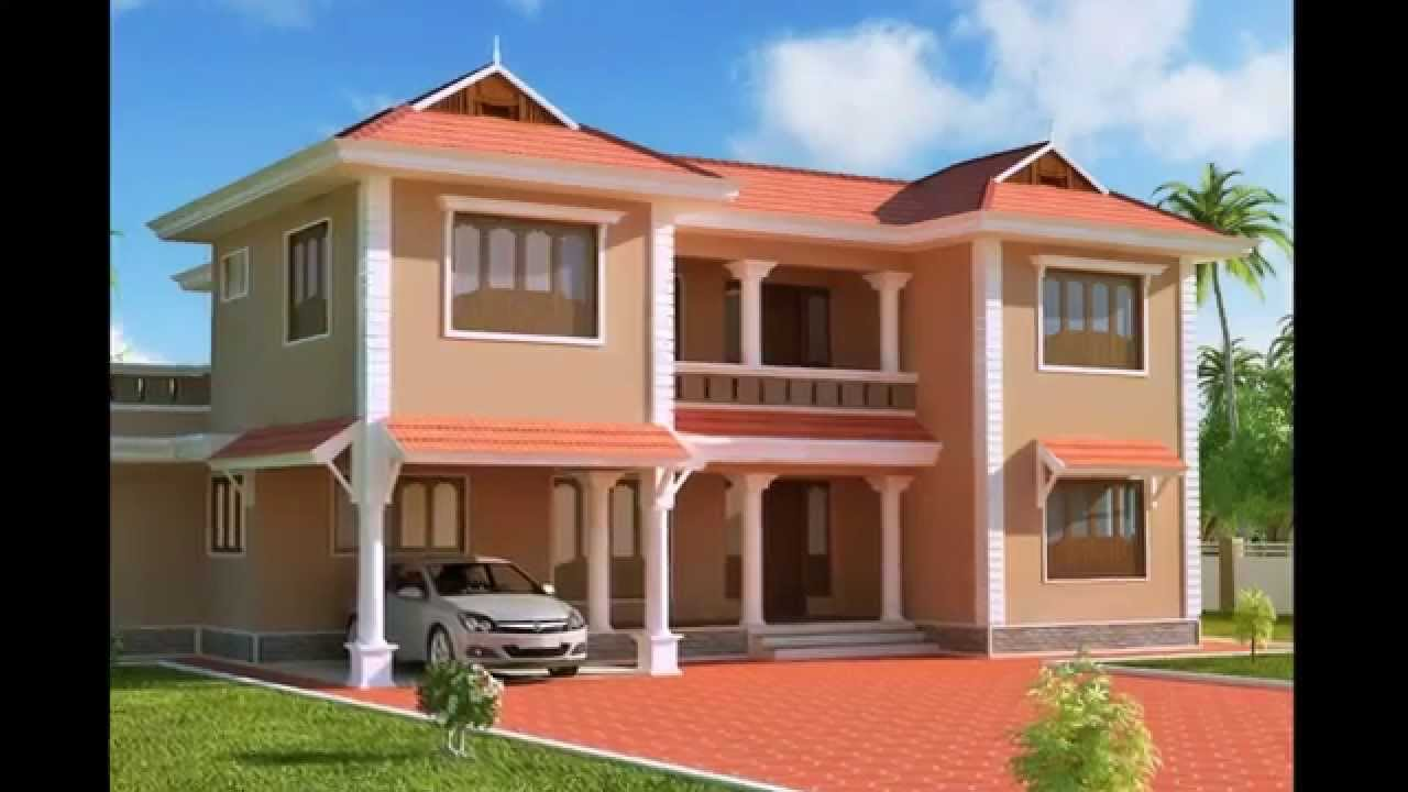 Exterior designs of homes houses paint designs ideas indian modern homes and small design youtube - Home paint design ideas ...