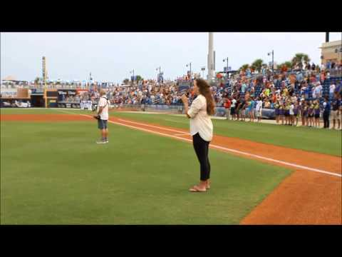 Briana Cappelletti - National Anthem @ Blue Whahoos Statium
