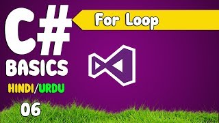 c# tutorials for bginners in hindi / urdu (for loop) [ 06 ]