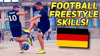 Crazy Nutmegs & Football Freestyle SKILLS IN GERMANY! ★ SkillTwins