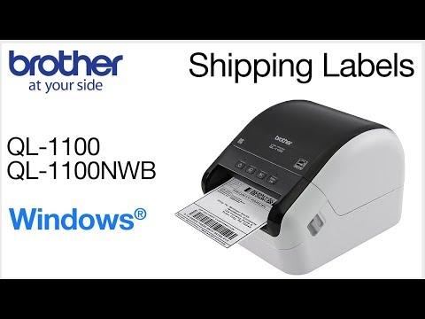 Print Shipping Labels on QL1100 – Windows