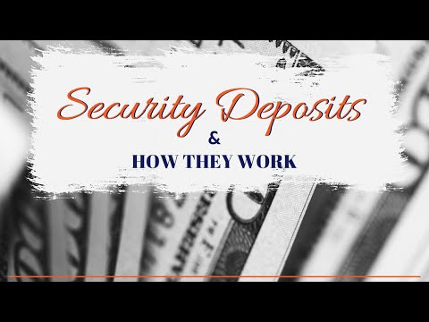 SPECIALIZED PROPERTY MANAGEMENT FORT WORTH - UNDERSTANDING THE SECURITY DEPOSIT