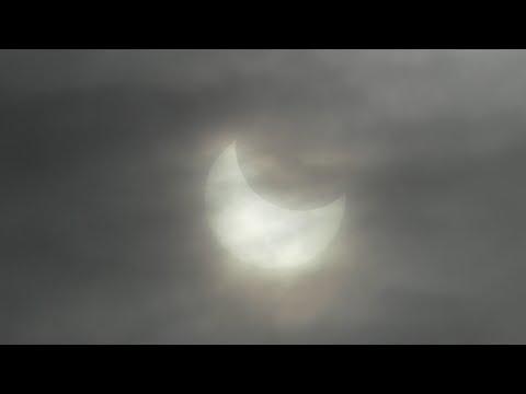 Солнечное затмение. г. Оха 6 Января 2019 год.