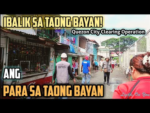 Quezon City Clearing Operation UPDATE | Binigyan ng 3 days n