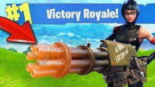 *NEW* OP MINI-GUN GAMEPLAY! (Fortnite Battle Royale)