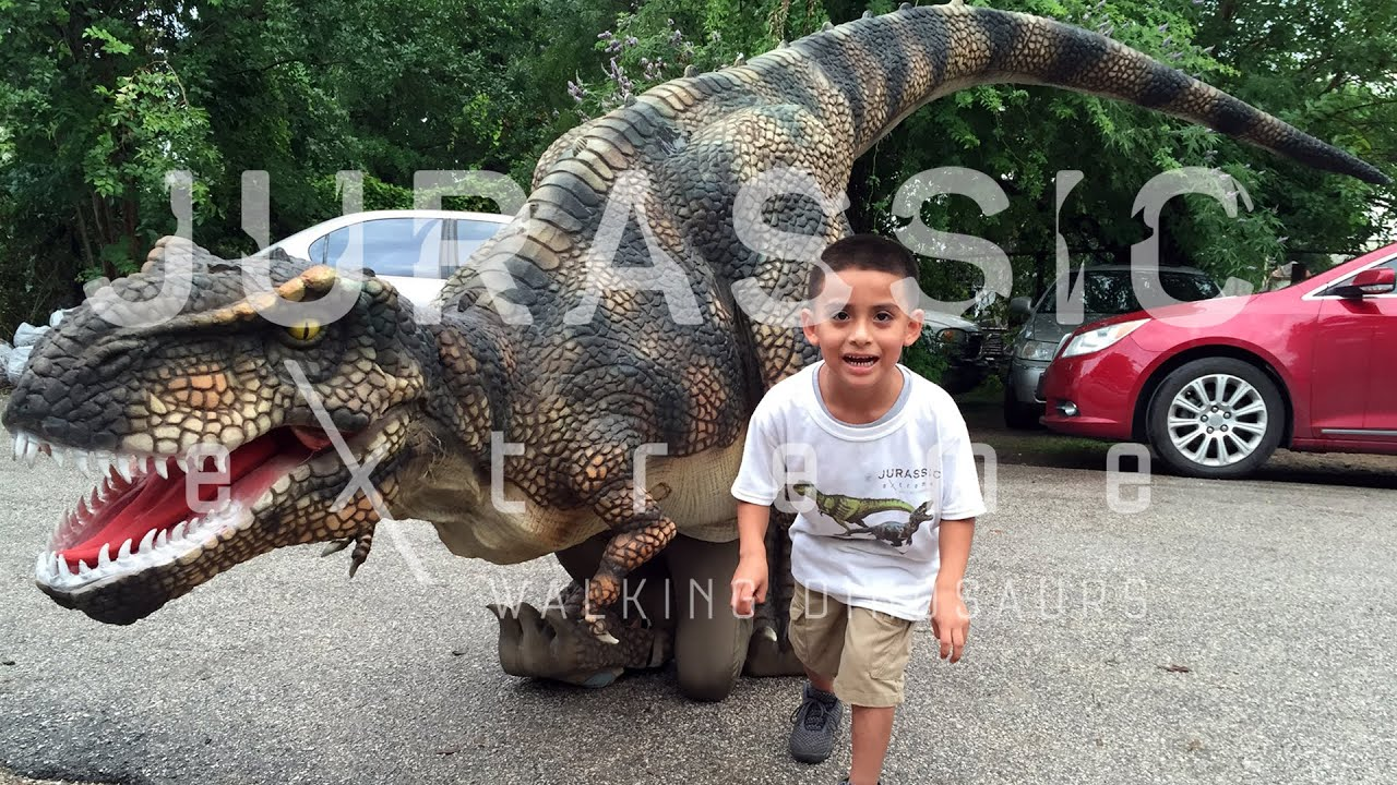 Miguels Jurassic Extreme Birthday Party Walking Dinosaurs in