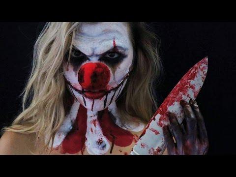 Maquillage d 39 halloween clown psychopathe by laura glam 39 more - Comment faire un maquillage de clown qui fait peur ...