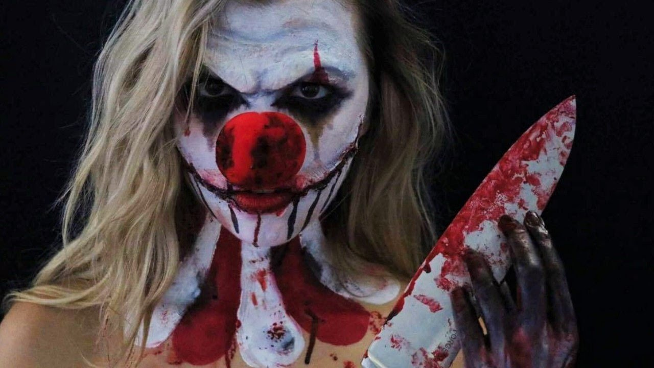 Maquillage d 39 halloween clown psychopathe youtube - Masque halloween qui fait peur ...