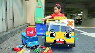 بولام العب مع لعبة حافلة TAYO للأطفال