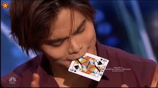 Shin Lim BEST Close UP Card Magic  America's Got Talent 2018 Auditions S13E01