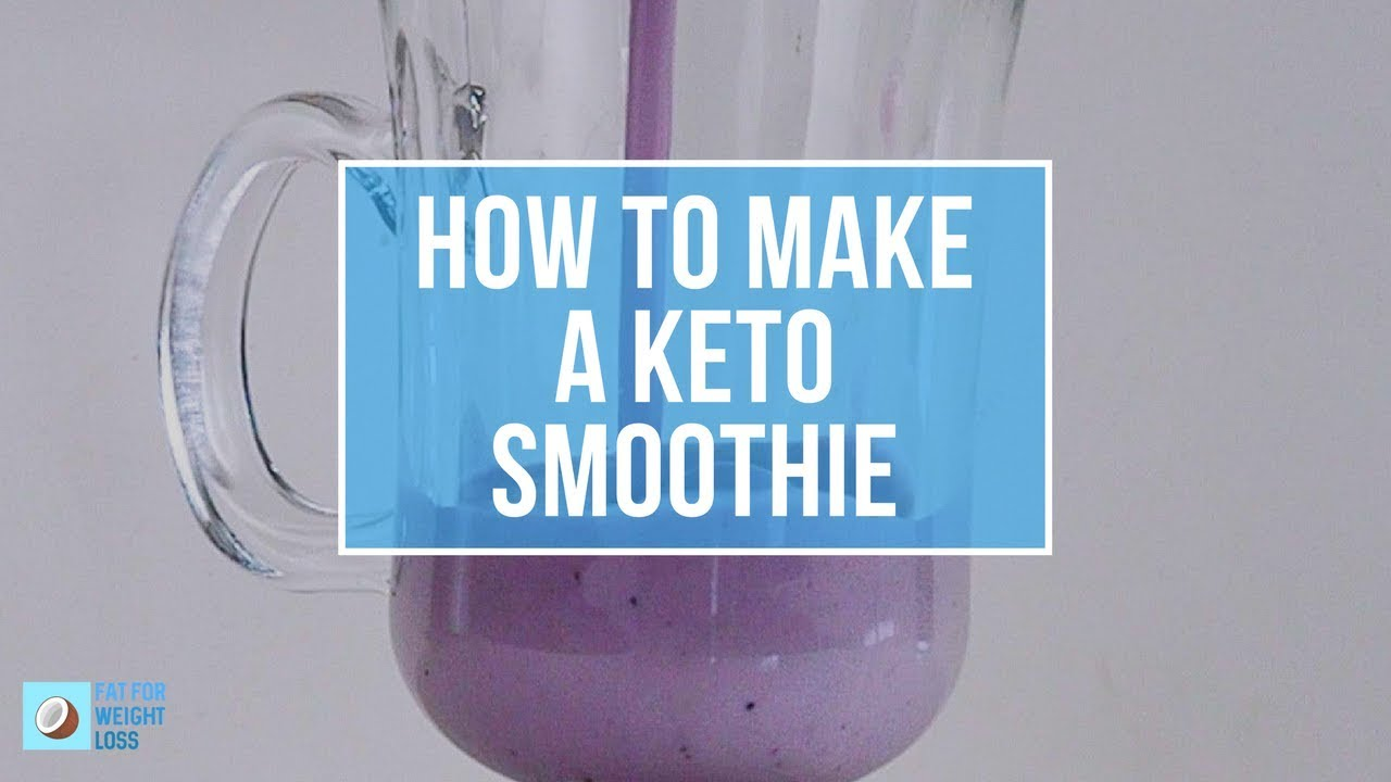 How To Make Keto Blueberry Smoothie - Deliciously Creamy - YouTube
