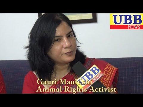 """Gauri Maulekhi """"जानवरों के प्रति समाज में जागरूकता लाने की सख्त जरूरत है"""":- गौरी मौलेखी"""