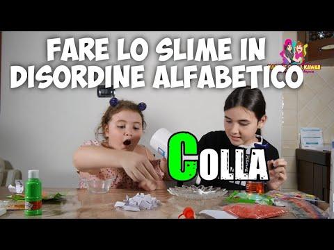 FARE LO SLIME IN DISORDINE ALFABETICO | CHALLENGE