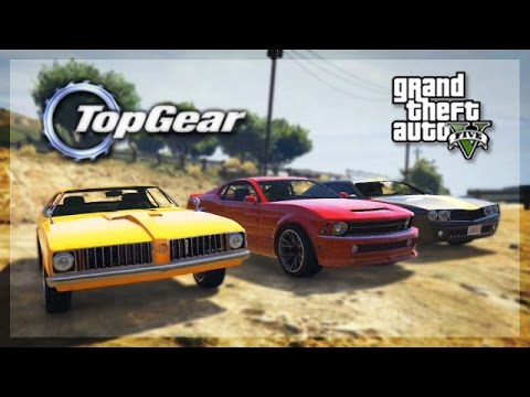 Gta Online Top Gear Edition Muscle Car Challenge Youtube