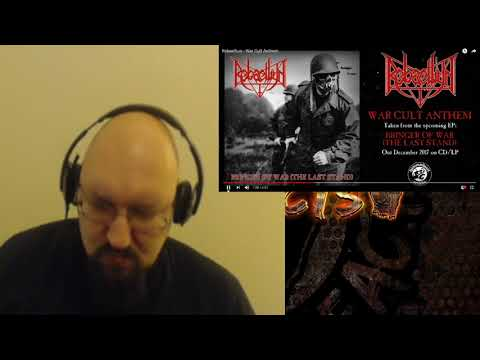 Rebaelliun War Cult Anthem Reaction. Warp Speed, thrashy death metal.