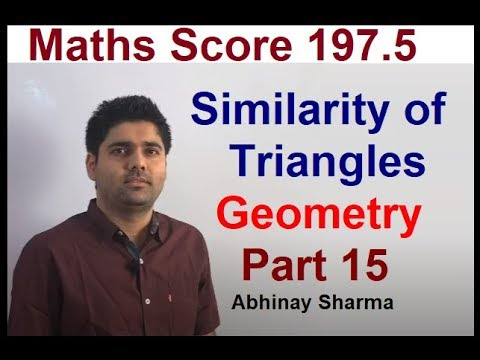 Geometry Part 15 - Similarity of Triangles By Abhinay Sharma (Abhinay Maths)