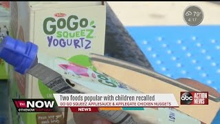 Two foods popular with children recalled