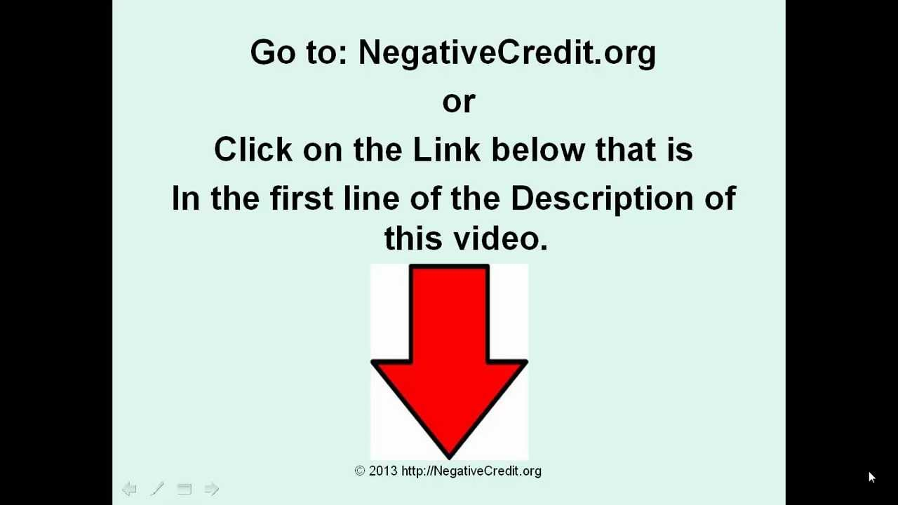 Negative credit how to force credit bureaus to remove negative credit from your credit report youtube