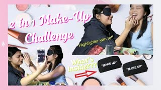 2 in 1 Make-Up Challenge!! Blindfold and What#39s inside my Pouch Edition!