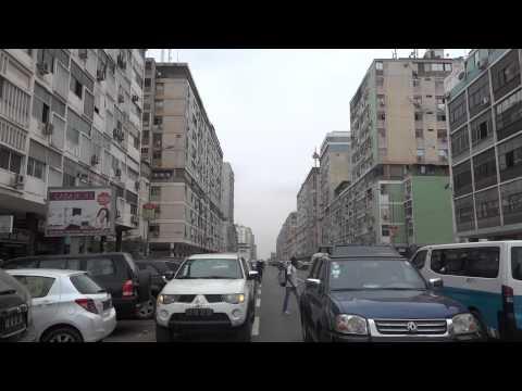 Somen Debnath in street of Luanda, Angola