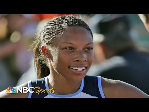 18-year-old Allyson Felix stuns at her first Olympic trials   NBC Sports