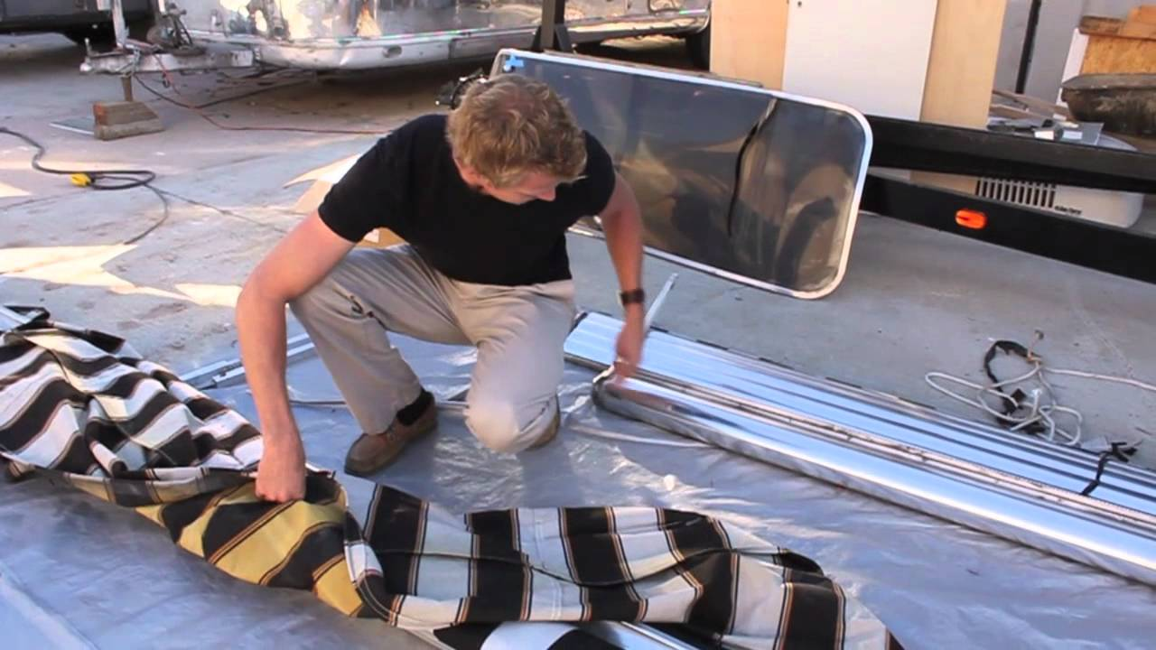 Awnings Part 3 Replacement Fabric 1028 Youtube