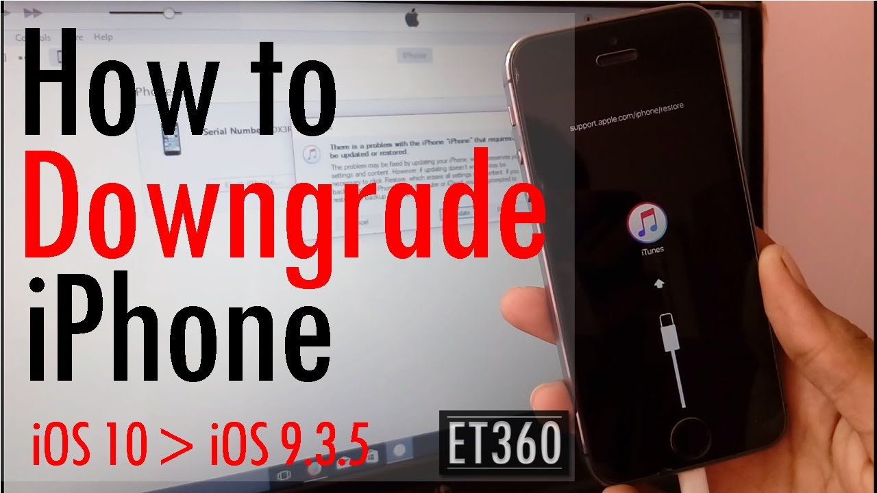 How to Downgrade iPhone from iOS 10 to iOS 9 3 5   YouTube How to Downgrade iPhone from iOS 10 to iOS 9 3 5