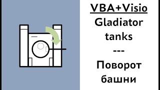 Visio+VBA: Пишем игру Gladiators tanks | #8 Поворот башни
