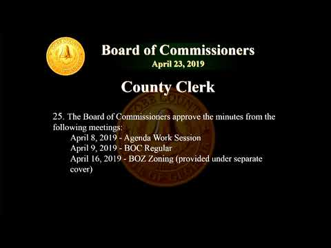 Cobb County Board of Commissioners Meeting - 04/23/19