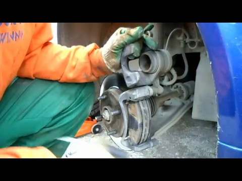 Замена передних колодок на Chevrolet lacetti