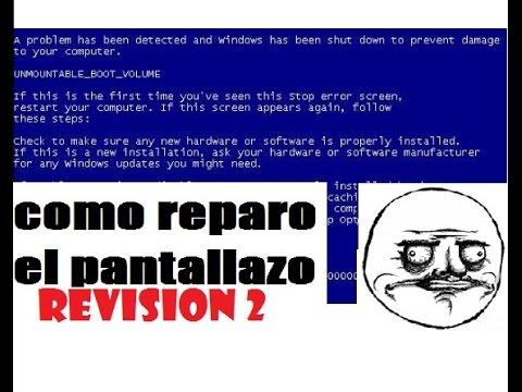 SOLUCION Reparar Pantallazo Azul Windows Unmountable_Boot_Volume  Screen Panic HP SEGUNDA REVISION