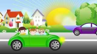 Машина идет гудит. Песенка для самых маленьких. The car song for kids. Наше всё